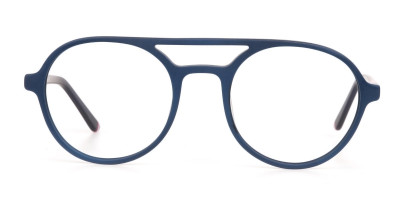 Turquoise Green & Dark Blue Double bridge Glasses
