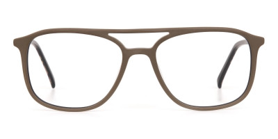Rectangle Oak Brown & Tortoise Double Bridge Frame