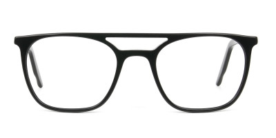 Black Aviator Spectacles in Acetate