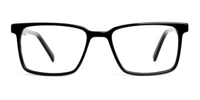 Designer Black Rectangular Full Rim Glasses frames