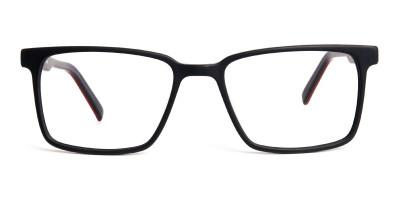 Matte Black Designer Rectangular Glasses frames