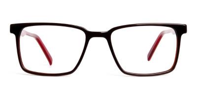 dark brown Rectangular full rim Glasses frames