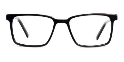 Black Dark Purple Rectangular Glasses frames