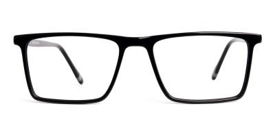black full rim rectangular glasses frames