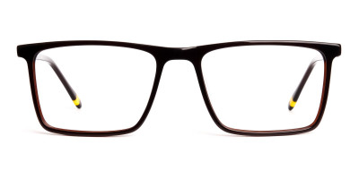 classic dark brown full rim rectangular glasses frames