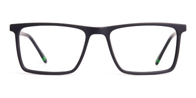 matte grey full rim rectangular glasses frames