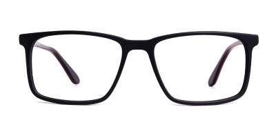 classic matte black full rim rectangular glasses frames