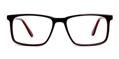 designer dark brown full rim rectangular glasses frames
