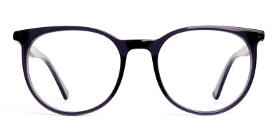 space grey designer round glasses frames