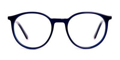 dark blue round full rim glasses frames