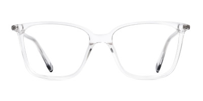 transparent rectangular cateye glasses frames