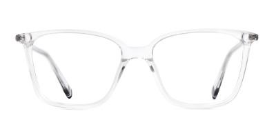 transparent rectangular cateye glasses frames