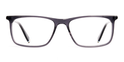 Crystal Grey Glasses Rectangular Shape frames