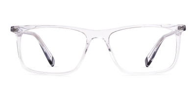 transparent glasses rectangular shape  frames