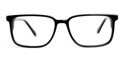 black design Rectangular Glasses frames