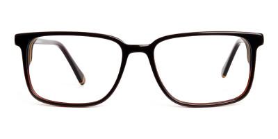brown thick design rectangular glasses frames