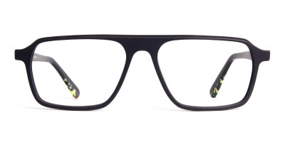 Matte Grey Rectangular Full Rim Glasses frames