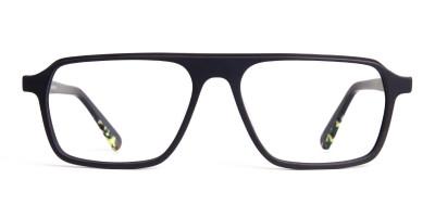 Matte Grey Rectangular Full Rim Glasses frames