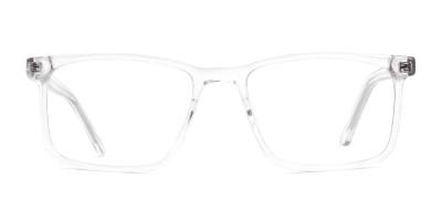 designer transparent rectangular glasses frames