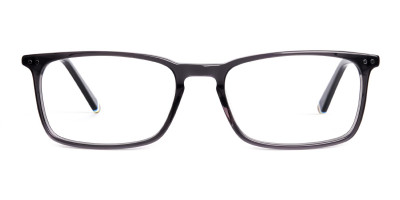 grey colour rectangular glasses frames