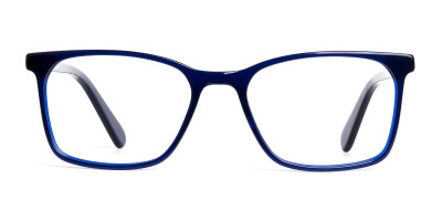 royal blue rectangular glasses frames