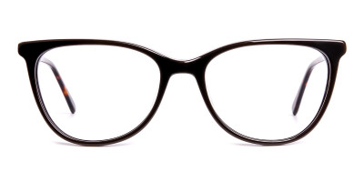 dark brown cat eye glasses frames