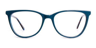 designer teal green glasses frames
