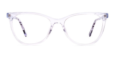transparent light blue cat eye glasses frames