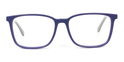 Sporty Casual Rectangular Grey & Royal Blue Spectacle Frames
