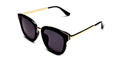 Black and Gold Simple Sunglasses