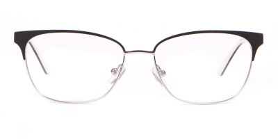 Calvin Klein CK18108 Women Rectangular Metal Glasses Black