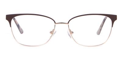 Calvin Klein CK18108 Women Rectangular Metal Glasses Brown