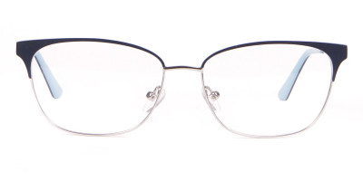 Calvin Klein CK18108 Women Rectangular Metal Glasses Navy