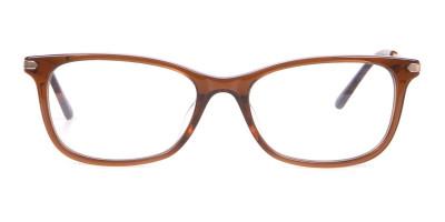 Calvin Klein CK18722 Brown Cat Eye Rectangular Frame