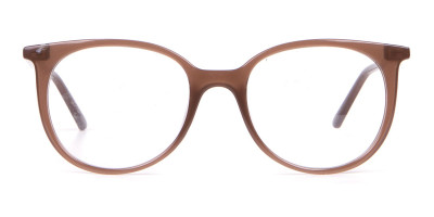Calvin Klein CK19508 Milky Brown Classic Round Glasses