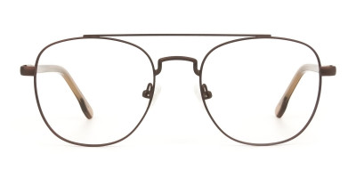 Honey Brown Aviator Wayfarer Glasses in Metal