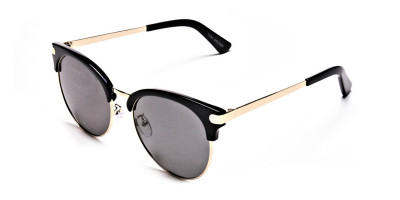 Gold Browline Sunglasses, Gold Eyeglasses