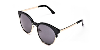 Gold & Black Browline Sunglasses