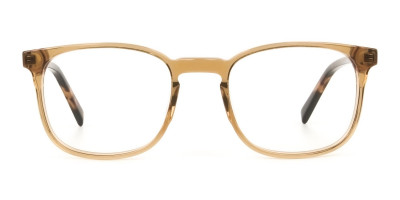Translucent Brown Havana & Tortoise Large Square Tortoise Shell Glasses