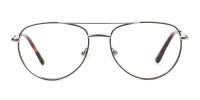 Brown Gunmetal Aviator Glasses