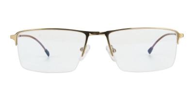 Gold Semi Rim Glasses with Spring Hinges