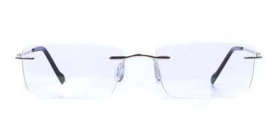 Rimless Glasses in Silver for Men & Women