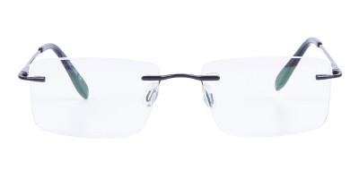 Classic Designer Black Rimless Glasses