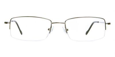 Silver Half Rim Rectangular Glasses