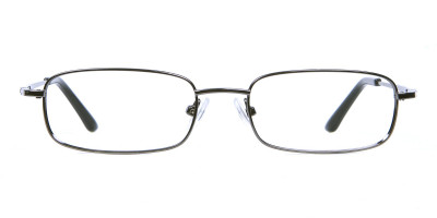 Rectangular Eyeglasses in Gunmetal, Eyeglasses