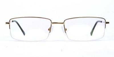 Gold Rectangular Glasses