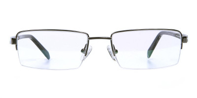 Gunmetal Rectangular Glasses, Eyeglass