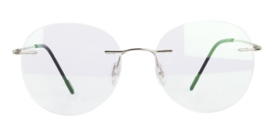 Silver Rimless Round Glasses in Metal