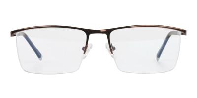 Brown and Black Semi Rim Glasses