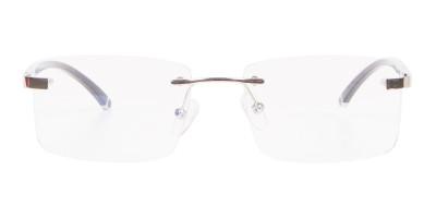 Silver Rectangular Rimless Glasses, Online UK